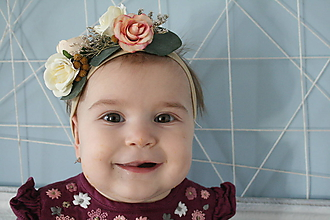 Detské doplnky - Čelenka pre bábätká - 10505617_