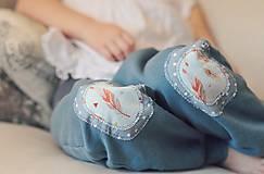 Detské oblečenie - Turky Pírka - modrozelené - 10507243_