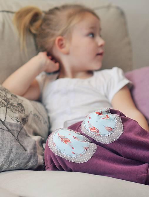 Detské oblečenie - Turky Pírka - růžovofialové - 10507305_