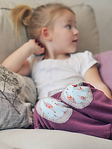 Detské oblečenie - Turky Pírka - růžovofialové (80) - 10507305_