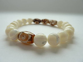 Náramky - náramek Natural ... perleť OOAK - 10507159_