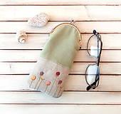 Taštičky - Púzdro na okuliare Štylizované farebné kvietky - 10504147_