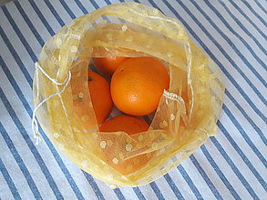 Nákupné tašky - Eko sáčok / vrecko na ovocie a zeleninu stredné zero waste - 10503840_