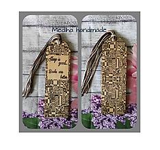 Drobnosti - Drevená záložka V. - 10507483_