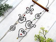 párik - tepaná dekorácia