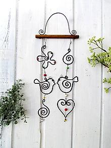 Dekorácie - párik - tepaná dekorácia - 10507367_