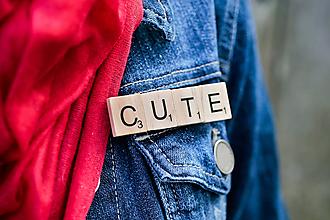 Odznaky/Brošne - Povedz to brošňou - Cute - 10506589_