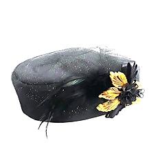 Ozdoby do vlasov - Saténový spoločenský klobúčik - 10505384_