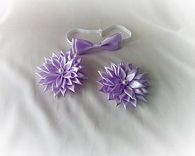 Ozdoby do vlasov - Spony s motýlikom - 10504698_