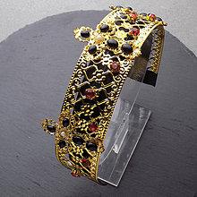 Ozdoby do vlasov - Dolce Queen Red barokní ... čelenka - 10509230_