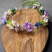 Ozdoby do vlasov - Spring Folklor VioletNew ... věnec - 10509259_