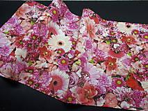 Úžitkový textil - Kvetinová sada (Stredový obrus ružové kvety  96×34 cm) - 10508796_
