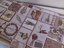Úžitkový textil - Levandulové obrusy a prestierania (Béžový stredový obrus 148×40 cm) - 10508870_