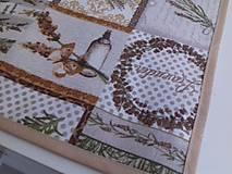 Úžitkový textil - Levandulové obrusy a prestierania (Béžový stredový obrus 148×40 cm) - 10508871_