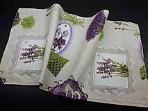 Úžitkový textil - Levandulové obrusy a prestierania (Fialová na režnej  prestieranie 60×30 cm) - 10508876_