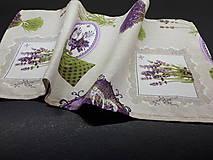 Úžitkový textil - Levandulové obrusy a prestierania (Fialová na režnej  prestieranie 60×30 cm) - 10508879_