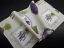 Úžitkový textil - Levandulové obrusy a prestierania (Fialová na režnej  prestieranie 60×30 cm) - 10508881_