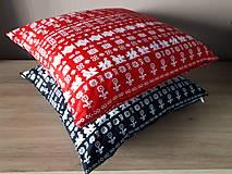 Úžitkový textil - obliečka na vankuš čičmany (Čierna/červenå) - 10509087_