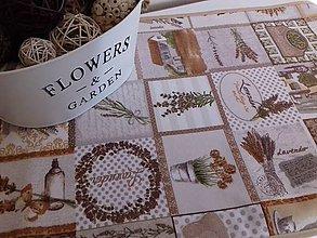 Úžitkový textil - Levandulové obrusy a prestierania (Béžový stredový obrus 148×40 cm) - 10508868_