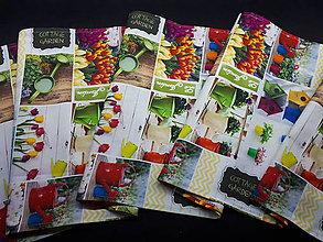 Úžitkový textil - Jarný set  (Stredový obrus Cottage Garden 160×40 cm) - 10508954_