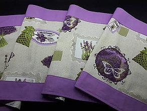 Úžitkový textil - Levandulové obrusy a prestierania (Stredový obrus s fialovým lemom 140×45 cm) - 10508968_