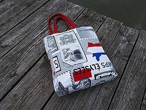 Veľké tašky - Taška I Love You Paris (S bielym podkladom) - 10509122_