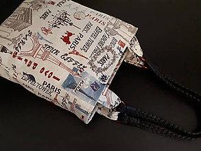 Veľké tašky - Taška I Love You Paris (S režným podkladom) - 10509136_