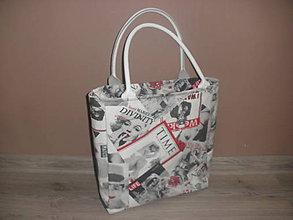 Veľké tašky - Retro taška (Titulky časopisov) - 10509188_