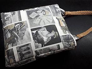 Veľké tašky - Retro taška (Retro motív na režnej) - 10509207_