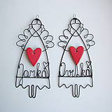 Dekorácie - srdiečko pre mamu - anjelik (Maminke) - 10510200_