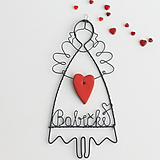 Dekorácie - srdiečko maminke, mamičke - anjelik - 10510212_