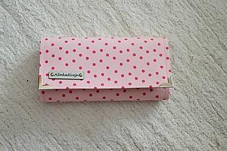 Peňaženky - Peňaženka ružové bodky - 10508060_