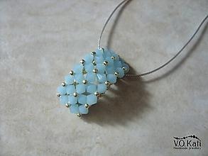 Náhrdelníky - Charlotte (Modrá) - 10509646_