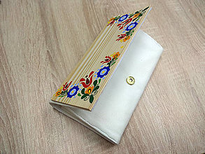 Peňaženky - DREVENÁ PEŇAŽENKA (Biela) - 10511679_