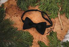 Doplnky - Luxusný zamatový motýlik - čireny - 10507897_