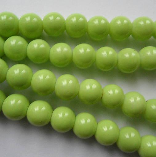 Sklenené korálky Panacolor ™ 8mm-10ks (sv.zelená)