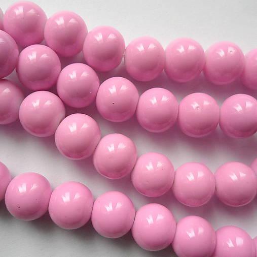Sklenené korálky Panacolor ™ 10mm-1ks (sv.fialová)