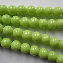 Korálky - Sklenené perly Panacolor ™ 8mm-10ks (sv.zelená) - 10511485_