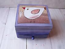 Krabičky - Maľovaná šperkovnička - 10509295_
