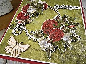 Papiernictvo - Ružová záhrada pohľadnica - 10509249_