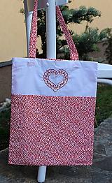 Nákupné tašky - Skladacia nákupná taška s výšivkou - 10511098_