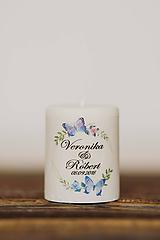 Darčeky pre svadobčanov - Menovka alebo darček pre svadobčanov - Sviečka - Vzor č.67 - 10507967_