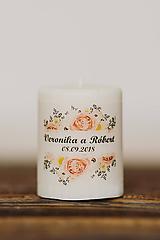 Darčeky pre svadobčanov - Menovka alebo darček pre svadobčanov - Sviečka - Vzor č.78 - 10507978_