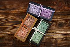 Darčeková sada - Sviečky zo 100% palmového vosku - Motýle