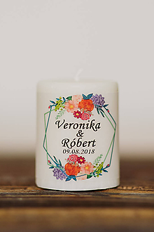 Darčeky pre svadobčanov - Menovka alebo darček pre svadobčanov - Sviečka - Vzor č.71 - 10507974_
