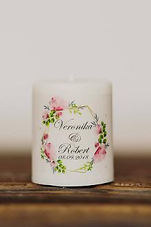 Darčeky pre svadobčanov - Menovka alebo darček pre svadobčanov - Sviečka - Vzor č.13 - 10508068_