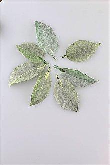 Komponenty - lístky zelenkavé - ideálne na náušnice a prívesky - 10509279_