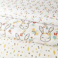 Textil - slečna zajková; 100 % bavlna Francúzsko, šírka 150 cm, cena za 0,5 m - 10507949_