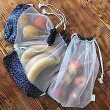Iné tašky - vrecka na potraviny sieťka modré (sada A: 3 vrecká) - 10511007_