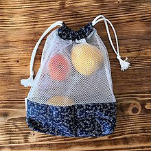 Iné tašky - vrecka na potraviny sieťka modré (vrecko menšie 23x28 cm) - 10511063_